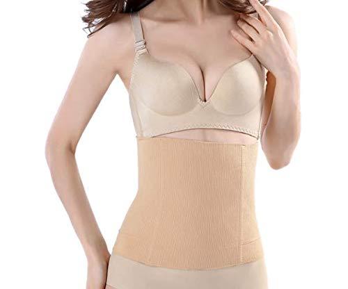 Tummy Tuck Miracle Slimming System includes Tummy Training Belt and Slimming Cream   Seamless Abdomen Postpartum Belt Women's Tummy Slimming High Waist Belt   XS/S, M/L, XL/XXL Sizes (TAN, XS/S)