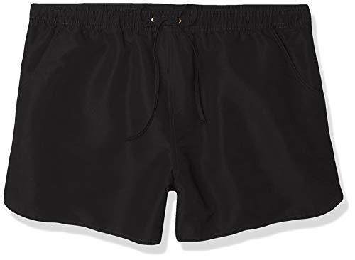 24th & Ocean Women's Board Swim Short Bikini Swimsuit Bottom, Black//Solid, XX-Large