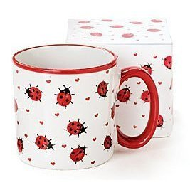 Adorable Ladybug Coffee Mug/Cup With Gift Box Inexpensive Gift Item For Ladybug Lovers