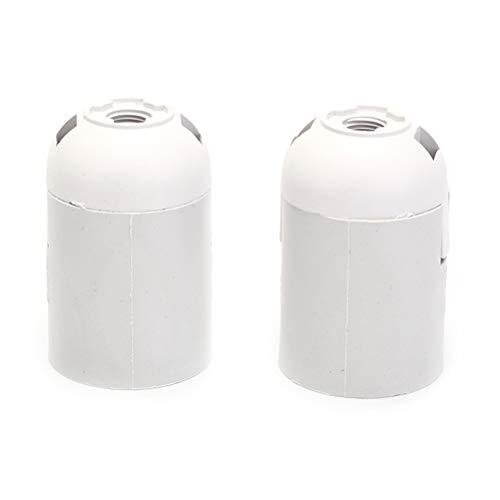 Adaptador de base de lámpara 2 piezas de E27 M10 zócalo de la base de la lámpara de cuello de sombra separador portalámparas de la lámpara con interruptor on/off Tornillo convertidor Negro Blanco