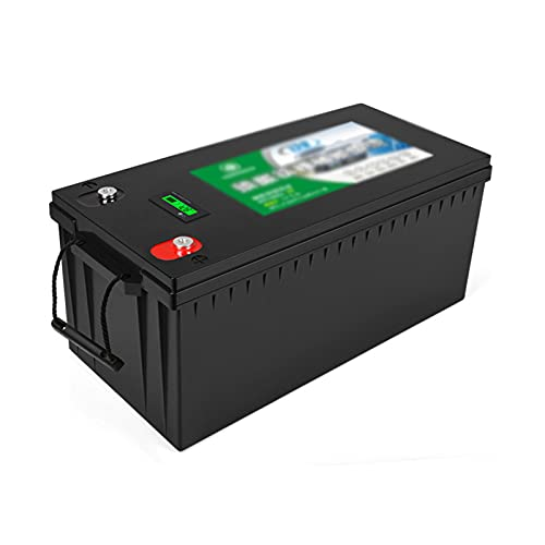 YHKJ RV Battery 12V 100~400Ah Lithium Iron Deep Cycle Battery Built-in 100A BMS 2000+ Perfect for RV, Solar, Marine, Overland, Off-Grid Application,Black,12V400AH