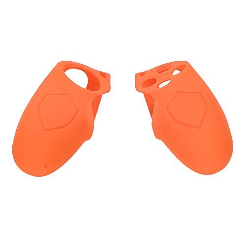 Socobeta Anti-Rutsch-1-Paar-Split-Silikon, Kratzfest, zart gestaltete Schutzhülle Waschbares elastisches, weiches Material für PS4(Orange)