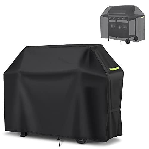 GEMITTO Copertura Barbecue Impermeabile 420D Oxford Telo Copri Barbecue Impermeabile/Polvere/Antivento/Resistente ai Raggi UV per griglia 145 * 61 * 117