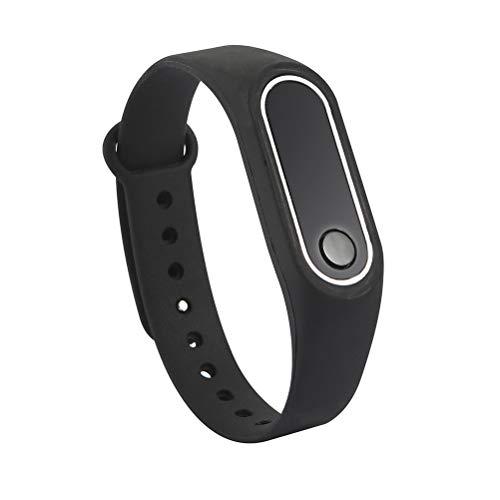 LIOOBO Fitness Tracker Activity Tracker Banda de Reloj Inteligente Inalámbrico Pantalla LED estática Pulseras Pulsera para niños Adultos (Negro)