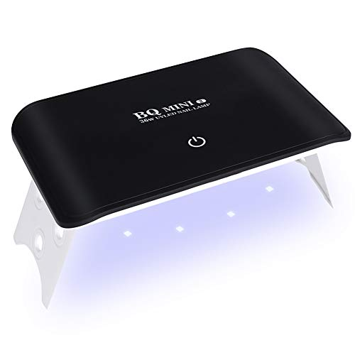 SINZON Lampe UV Sèche Ongles Portable, Mini 24W UV 8 LED, Séchoir à Ongles Professionnel Automatique, 2 Minuteries 60s/120s, Pliable Écran Tactile, Alimentation USB, Vernis Semi Permanent, Gel Vernis