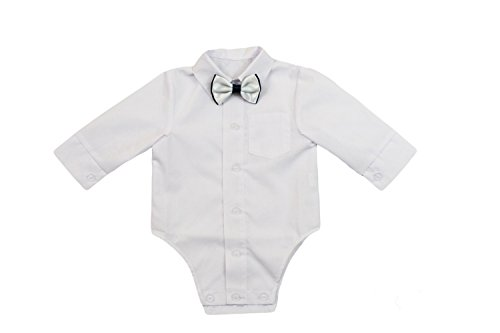 Hemd Baby Junge Kinder Kind Taufe Body Hemd Hochzeit Anzüge Body, 2tlg,Weiß KB1
