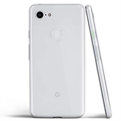 totallee Clear Pixel 3 XL Case, Thin Soft Cover Slim Flexible TPU - for Google Pixel 3XL (2018) (Transparent)