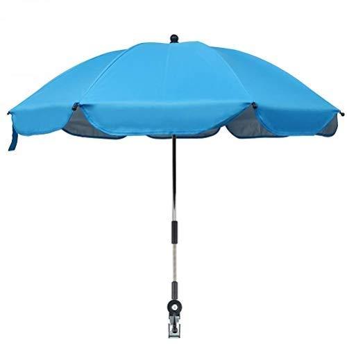 basku Sombrilla universal Carrito de bebé Sombrilla impermeable para silla de paseo con soporte para tubo/Protección UV50+, 75 cm diámetro para cochecito, cochecito, silla de paseo y buggy