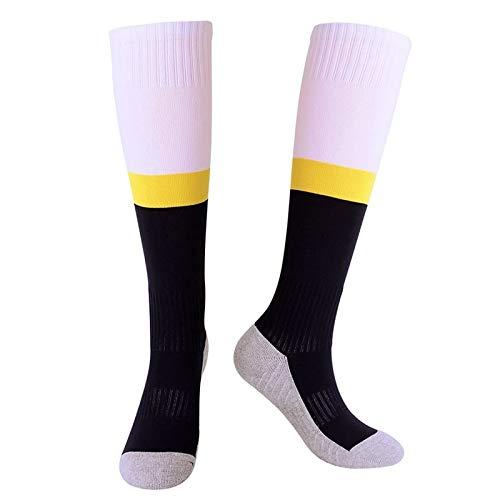 QuRRong Calcetines de Futbol Absorbente Juvenil Socker Socks Protección de Pantorrilla Calcetines de Fútbol Sports Stocking Toalla Toalla Tubo Botas Calcetines para el Lacrosse de Béisbol