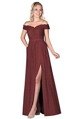 A Line Wedding Dress Lace Off the Shoulder