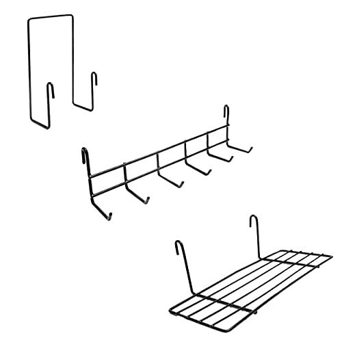 ODOXIA Ordenador de Cartas, Estante Colgante y Perchero | Accesorios para Rejilla de Pared para Panel de Rejilla para Pared de Alambre | Accesorios para Panel de Rejilla