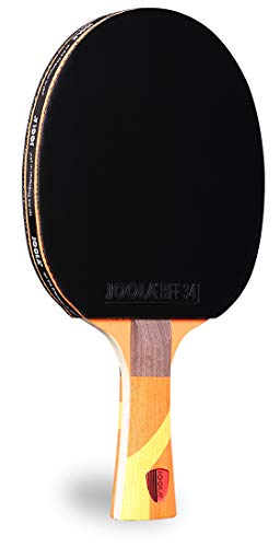 JOOLA Omega Strata - Table Tennis Racket with Flared Handle - Tournament Level Ping Pong Paddle with Riff 34 Table Tennis Rubber - Designed for Spin