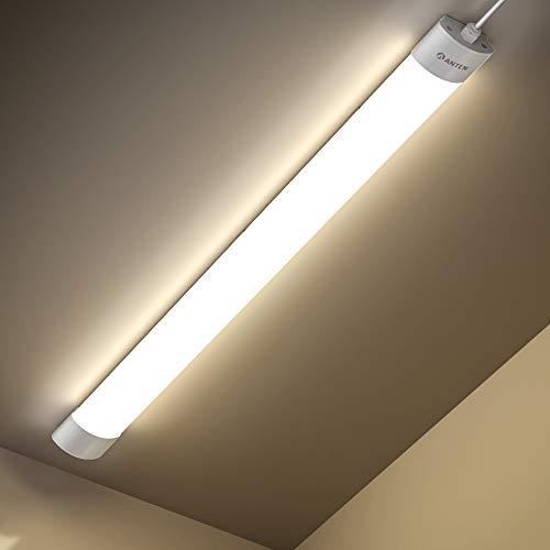 Anten Feuchtraumleuchte LED | 42W 150CM Deckenleuchte Röhre | 4800LM Neutralweiß 4000K Kellerlampe | IP65 Wasserdicht Garagelampe für Keller, Garage, Werkstatt usw.