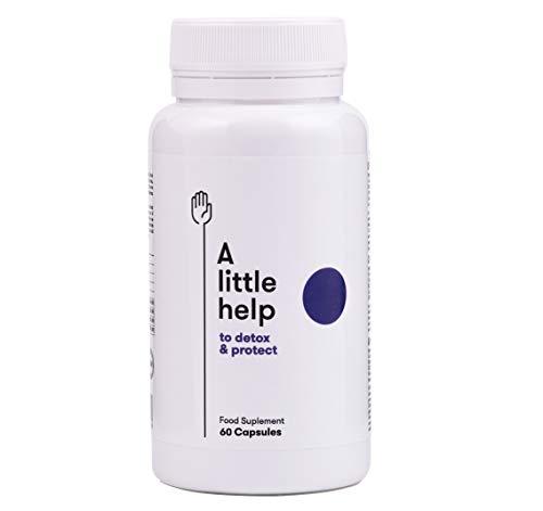 A Little Help para un detox. Complemento alimenticio adelgazante 100% natural. Cleanser con Vitamina C y Colágeno: depura y protege tu organismo; mejora tu digestión. 60 cápsulas vegetales.