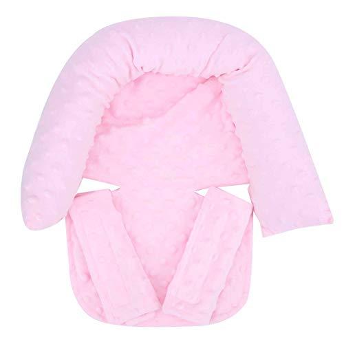 Kinderwagen Pad Sitzkissen Kinderautositz Einsatz für Neugeborene (grau/hellrosa)(Light pink, Baby headrest)
