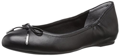 Rockport Women's Total Motion Hidden Wedge Tied Ballet Black Nappa 9 M