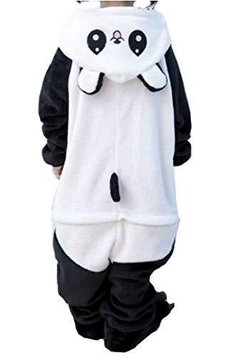 Pijamas Disfraces Onesie Animal Adultos Kigurumi Carnaval Halloween o Fiesta Espectáculo Navideño Mono Cosplay Ropa Interior de Zoológico Invierno Unisex Mujeres y Hombres (Panda 4, S)