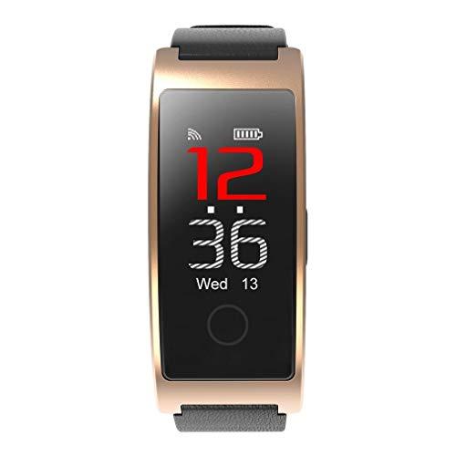Inteligente con Bluetooth Color Pantalla Pulsera Inteligente Impermeable Medidor De Movimiento De La Frecuencia Cardíaca Reloj Nuevo Oro