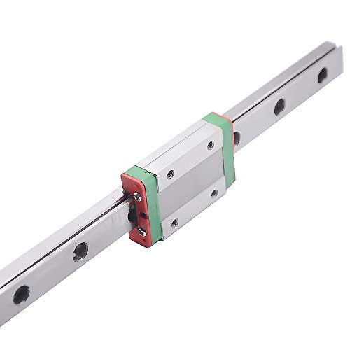 QXYOGO Linear Rail Miniature Linear Rail Slide 1pc Linear Guide+1pc Carriage 1 (Color : MGN7 C, Guide Length : 200mm)