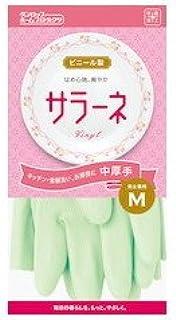 ダンロップホームプロダクツ サラーネ 中厚手 グリーン M 家庭用手袋 キッチン 食器洗い お掃除に