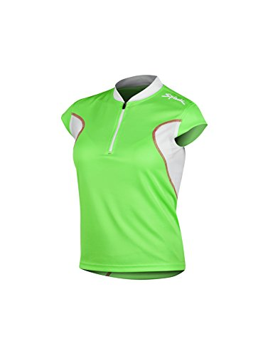 Spiuk Anatomic - Maillot M/C para Mujer, Color Verde/Blanco, Talla S