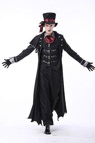 Simmia Halloween Kostüm,Halloween Kostüme für M er und Frauen Earl Vampir Nachtclub D nen Zombies, M er, L