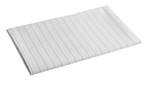 Blanc des Vosges Grand Large Drap Acier 280 x 320 cm - Percale 100% coton