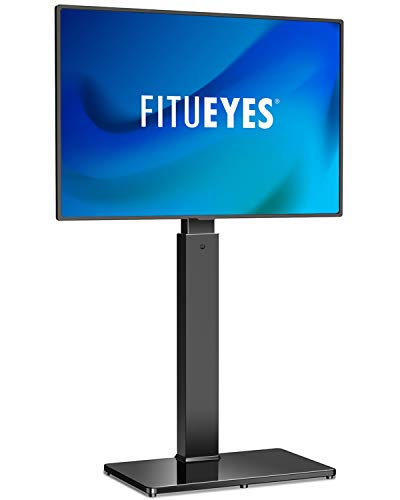 FITUEYES Universal Floor TV Stand Base with Swivel Mount for 32 to 55 inch Flat and Curved Screen TVs, Black TV Stands with Cable Management Modern Style TT106001MB
