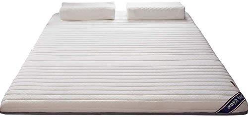 FF hybride latex matras, super zachte ademende Tatami matras, traagschuim matras voor eenpersoonskamer voor kinderen met stapelbed, kinderkamer (kleur: wit, afmeting: 150x190 cm (59x75 inch))