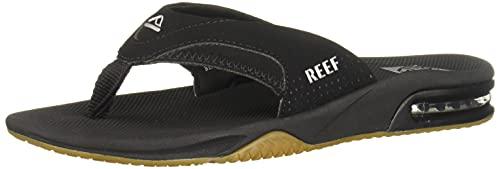 Reef Fanning Mens Sandals Bottle Opener Flip Flops For Men,BLACK/SILVER,11 M US