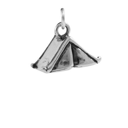 TheCharmWorks Sterling Silber Zelt Charmanhänger   Tent Charm