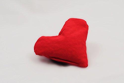 Huesos de cereza COJÍN en forma de corazón para espacios especialmente intensiva. El pequeño Corazón con gran Efecto para Salud, Amor y Wohlfühl Momentos