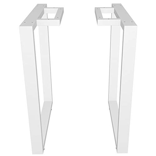 Furniture Legs-Table Legs×2, Wrought Iron Mouth-Shaped Large Table Frame, Suitable for bar, Dining Table and Conference Table/White / 550mm