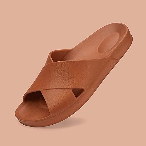 CHEXIAOyg Chancletas Flip Flop de Adultos, Zapatillas Individuales para el hogar Simple, baño de Verano con baño Antideslizante Zapatillas-Black_7.5-8.5, Sandalias Antideslizantes
