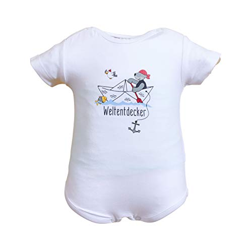 Salt and Pepper Body Set Ahoy Uni Print Camiseta, Original, 56 cm para Bebés