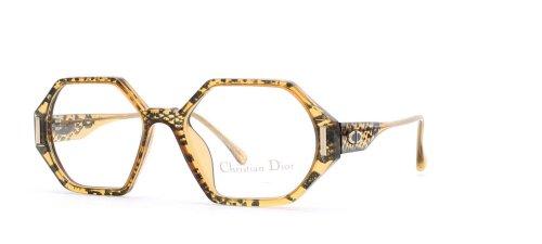 Christian Dior Damen Brillengestell Schwarz Black Yellow