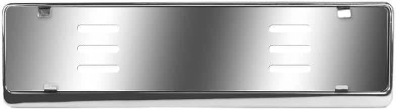 Stainless Steel Euro License Plate Holder - Universal Mounting Frame/Bracket