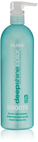 RUSK Deepshine Color Smooth Sulfate Free Shampoo, 25 Fl Oz