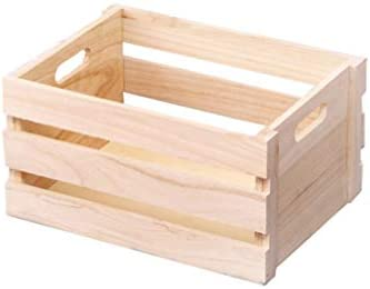 Milisten 1 Pc Wooden Crates Durable Multifunction Container Desktop Basket for Storage Sundries product image