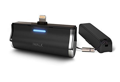 iWalk DBL2500MWHT Link high-performance dockingstation oplader externe accu (2500 mAh), 5200i (Apple Lightning), zwart