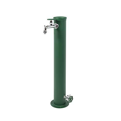 Fontana in ferro da Giardino Esterno BEL-FER modello 42/ARRF, completa di impianto e doppio rubinetto, disponibile in vari colori