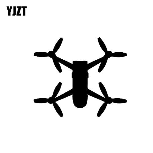 JYIP 13.8 CM * 11.9 CM Quadcopter SkyController UAV Drone Car Sticker personalità Decalcomania del Vinile Nero/Argento C3-0180 Argento