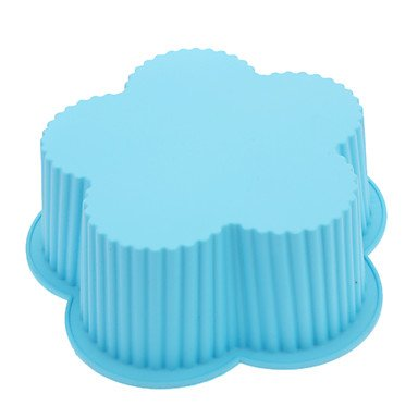 WYFC grosse fleur en forme de gâteau de moule en silicone (couleur aléatoire)
