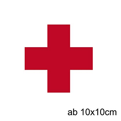 Rotes Kreuz Aufkleber ab 10cm für Verbandskasten Medizinschrank Erste Hilfe Koffer Aufkleber Erste Hilfe