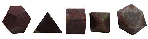Harmonize 5 Piezas Narmada Stone Platonic Solid Sacred Reiki Healing Balancing Gemstone