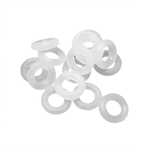 110 Pcs White Keycaps Rubber O-Ring Switch Sound Dampeners for Cherry MX Keyboard Dampers Key Cap O Ring Replace - White Illinois