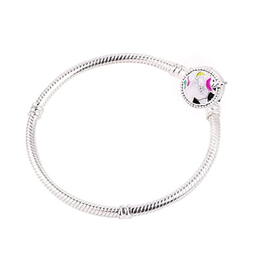 Pandora 925 Jewelry Bracelet Natural Unicorn Snake Chain European Bead Bangle Pendant Charms Women Diy Gifts