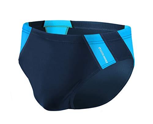 Sesto Senso Herren Badehose Slip Schwimmhose M bis 4XL Bademode Swimming Shorts BD 447 (4XL, Blau)