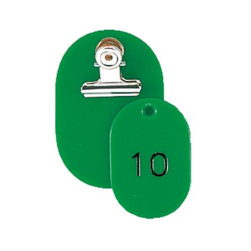 ORIONS 親子番号札 小判 1-50 グリーン CT-1-1-G