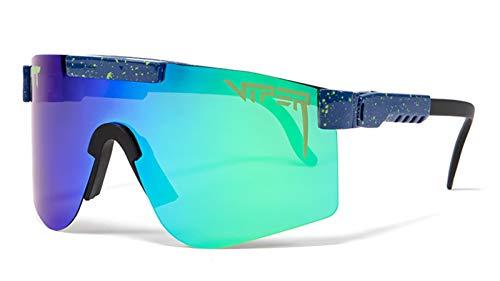 Pit Viper Gafas De Sol Deportivas Polarizadas, Protección De Ciclismo De Protección UV400 para Hombres Y Mujeres, Gafas Protectoras para Los Ojos Al Aire Libre F